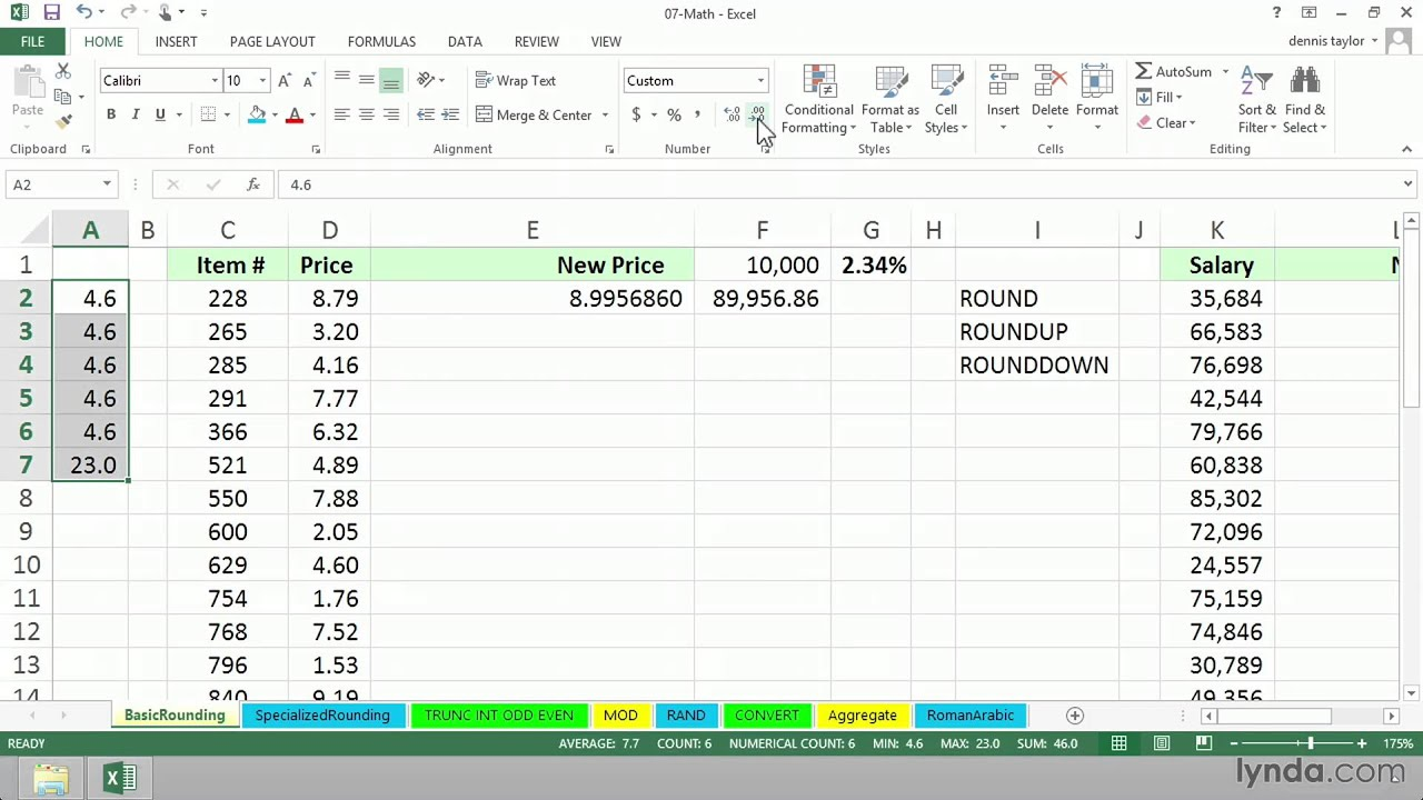 Excel formula tutorial Working with ROUND, ROUNDUP, and ROUNDDOWN ...
